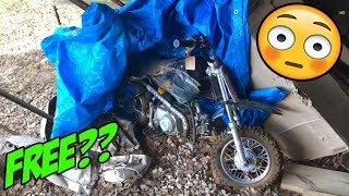 FINDING a $50 DIRTBIKE After Sitting for Two Years!! Will it RUN??