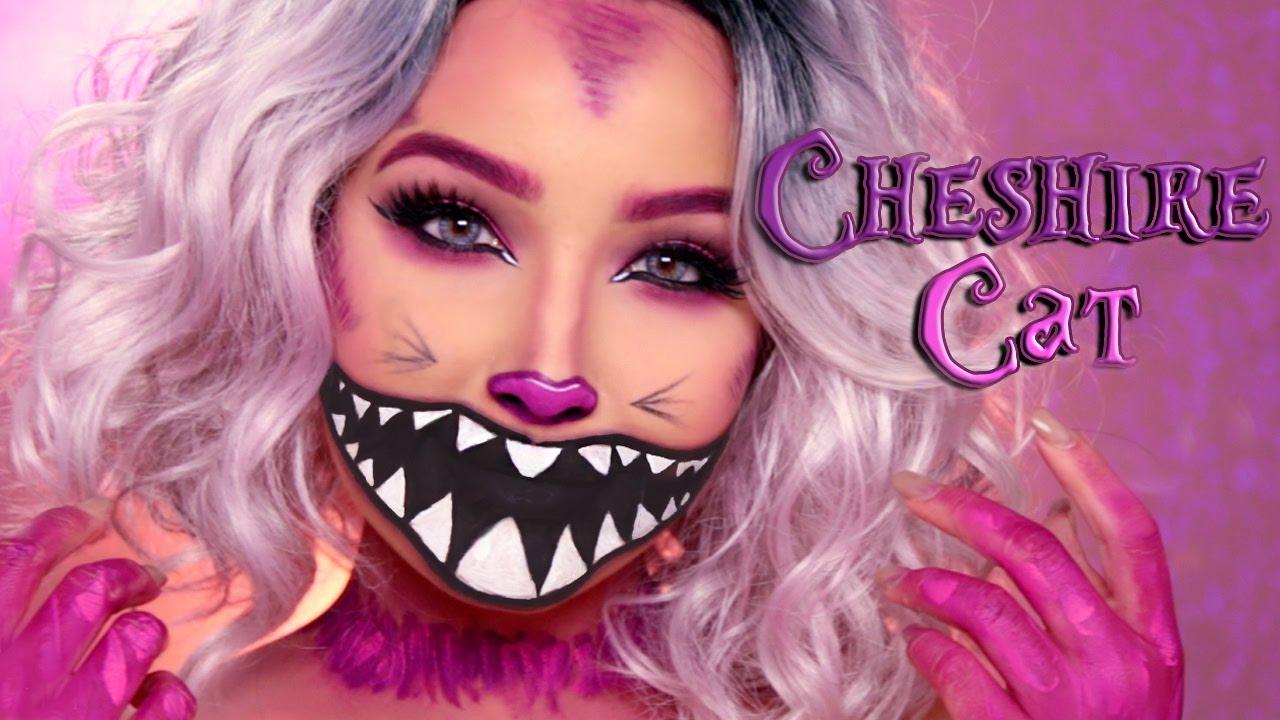 CHESHIRE CAT HALLOWEEN MAKEUP TUTORIAL | Amanda Ensing - YouTube