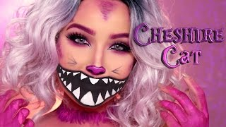 CHESHIRE CAT HALLOWEEN MAKEUP TUTORIAL | Amanda Ensing