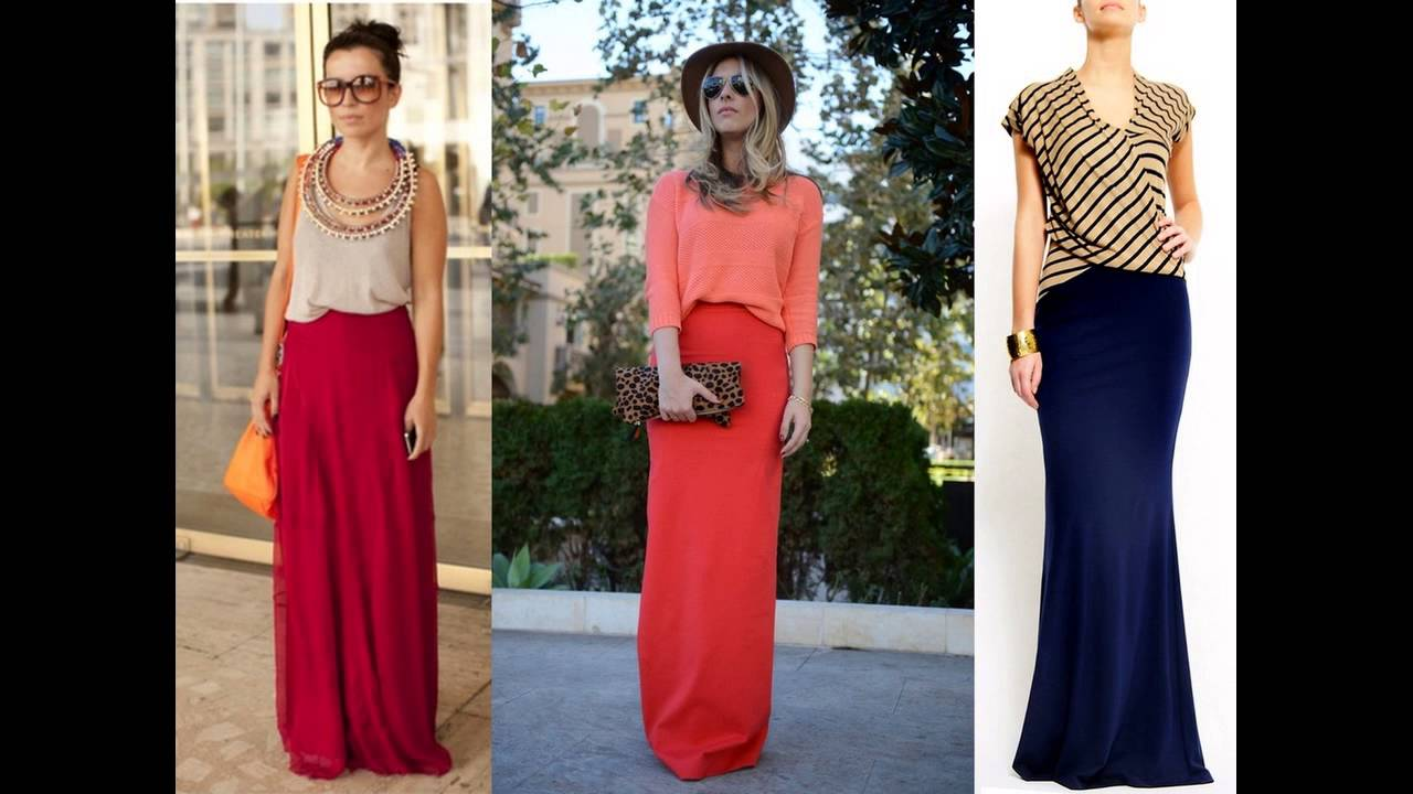 Crop Top And Maxi Skirt Outfit Ideas - YouTube