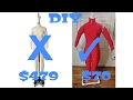 DIY Mannequin Body Stand - Dress Form diy - How to Make Cheap Dress Forms zentai mannequin tutorial