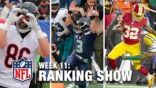 Week 11 Rankings Show | Top 10 Plays, Top 3 Celebrations & More! | NFL