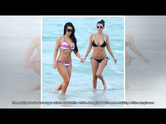 Kourtney Kardashian Wears 2 Swimsuit Looks in Italy - Kourtney Wears Bikini on Vacation News 24h