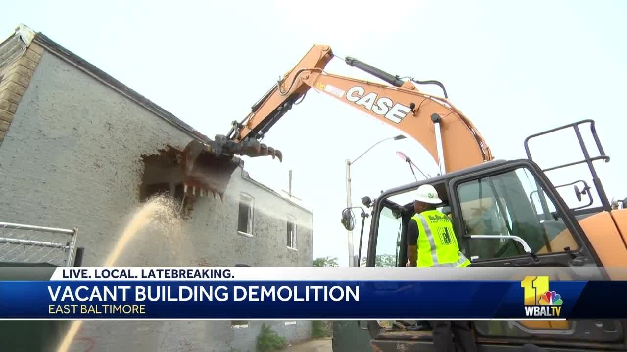 Vacant houses demolished in Baltimore under Project CORE