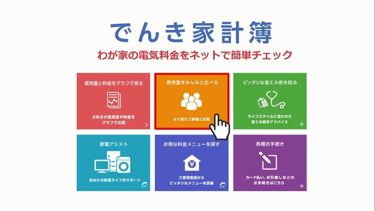 東京電力 電気家計簿
