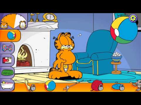Garfield the lazy cat interaction - All Kids Toys Collector
