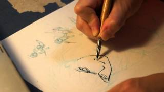 ミラージュ25周年記念イラストペン入れ動画です。