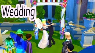 Getting Married - Wedding Day - Fairy Fantasy SIMS 4 Game Let's Play Dating Video Series Part 11