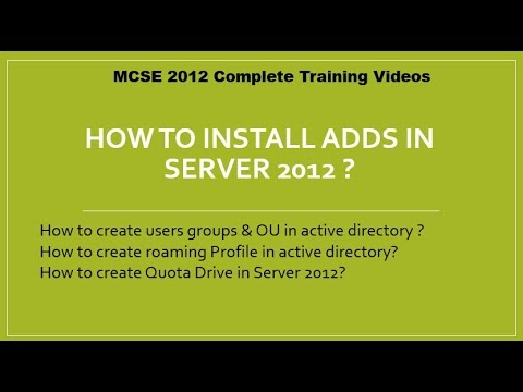 How to install Active Directory , Users & Roaming Profile in windows server 2012 in urdu hindi