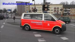Feuerwehr Hamburg 3 Notarzteinsatzfahrzeuge aus Verschiedene Wachen