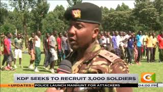 KDF recruitment registers low turnout in Nandi