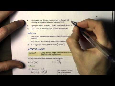 7.3 Double angle formulas 2 of 3