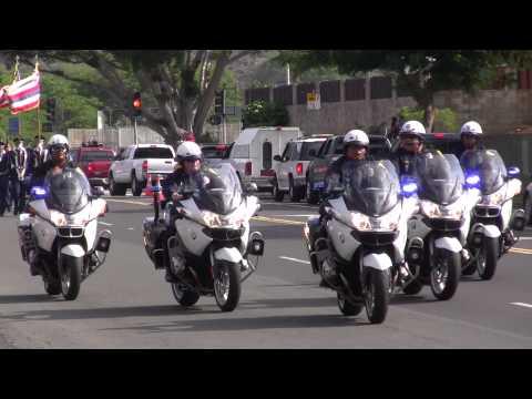 Hawaii Kai Holiday Parade 2012 - Honolulu Police Dept. Motorcycles