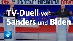 Präsidentschaftswahlkampf in den USA: TV-Duell von Sanders und Biden im Zeichen der Corona-Pandemie