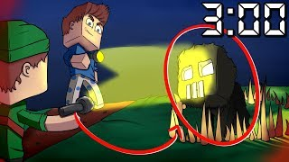 CAPTURAMOS O MONSTRO DAS 3:00 AM (DA MADRUGADA) NO MINECRAFT !!