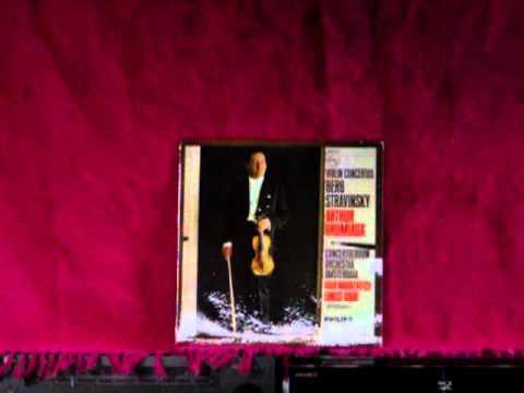 Garrard 301 Arthur Grumiaux,Stravinsky Violin concerto in D,COA Ernest Bour 1962