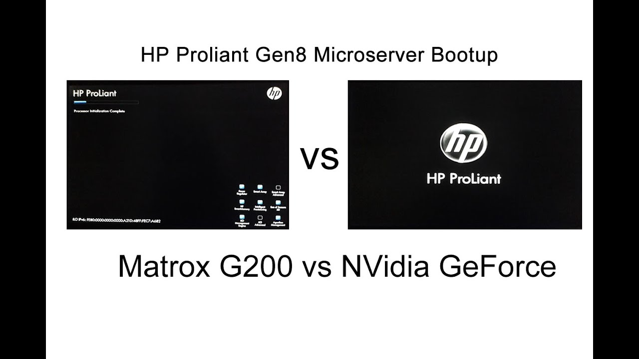 HP ProLiant MicroServer Gen8 Matrox Graphics Drivers for Windows Download