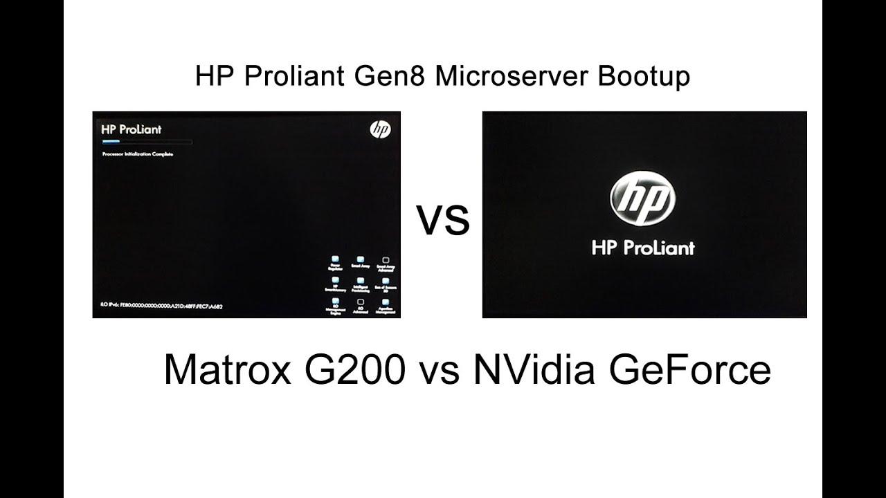 Driver for HP ProLiant MicroServer Gen8 Matrox Graphics