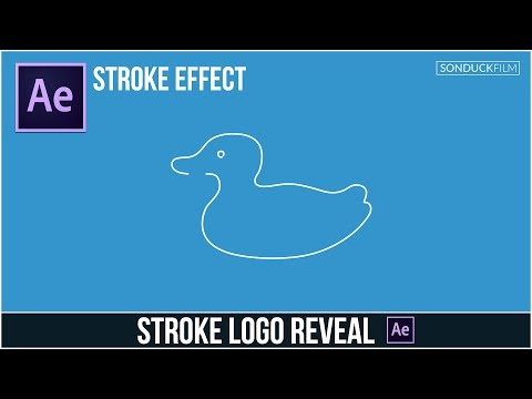 After Effects Tutorial: Stroke Logo Reveal Outline Effect - YouTube