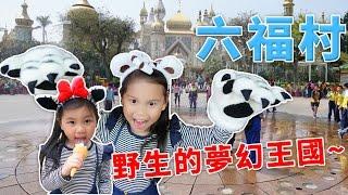 六福村 主題遊樂園 環遊世界野生動物的夢幻王國 美式風格馬車玩具 南太平洋超狂遊樂設施 超好玩親子樂園 六福莊 過夜 玩具開箱一起玩玩具Sunny Yummy Kids TOYs