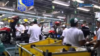 Lihat Proses Produksi Sepeda Motor Honda Untuk Anda Di Plant Cikarang