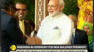 PM Modi's first official visit to Maldives; Solih sworn in as 6th president of Maldives