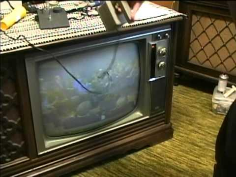 1967 Rca Ctc-28 Tube Type Color Tv Purity Setup