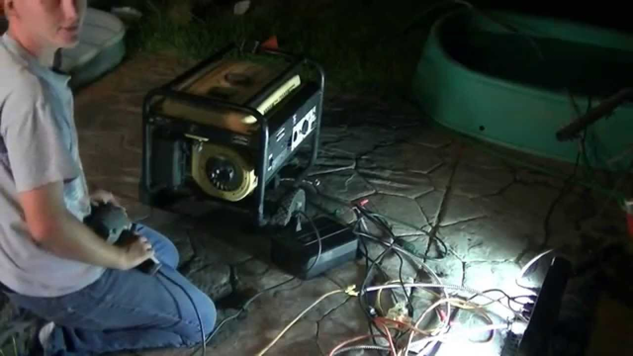 Generator conversion to electric start youtube for Turn an electric motor into a generator