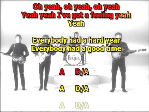 I've Got a Feeling Beatles best karaoke instrumental lyrics chords
