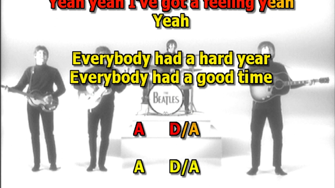 Ive got a feeling beatles best karaoke instrumental lyrics chords ive got a feeling beatles best karaoke instrumental lyrics chords hexwebz Image collections