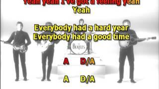 I've Got a Feeling Beatles best karaoke instrumental lyrics chords