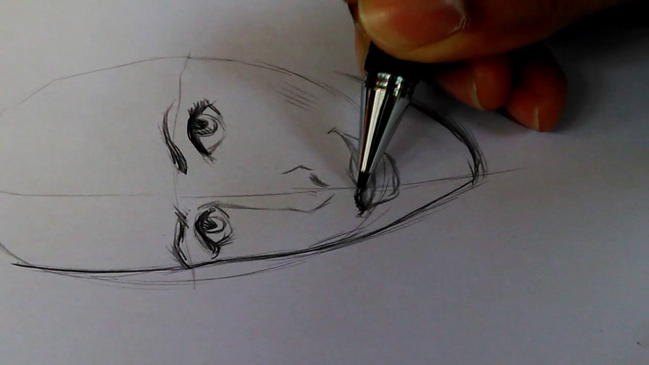 Video tutorial how to draw face with pencil step by step for beginner