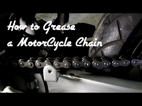 How to grease a Motorcycle or bicycle chain