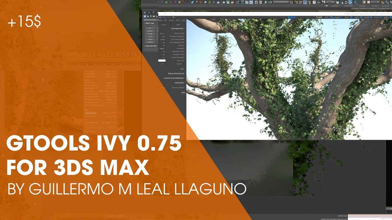 Gtools Ivy Generator v0.75 for 3ds Max 2018-2021 Win