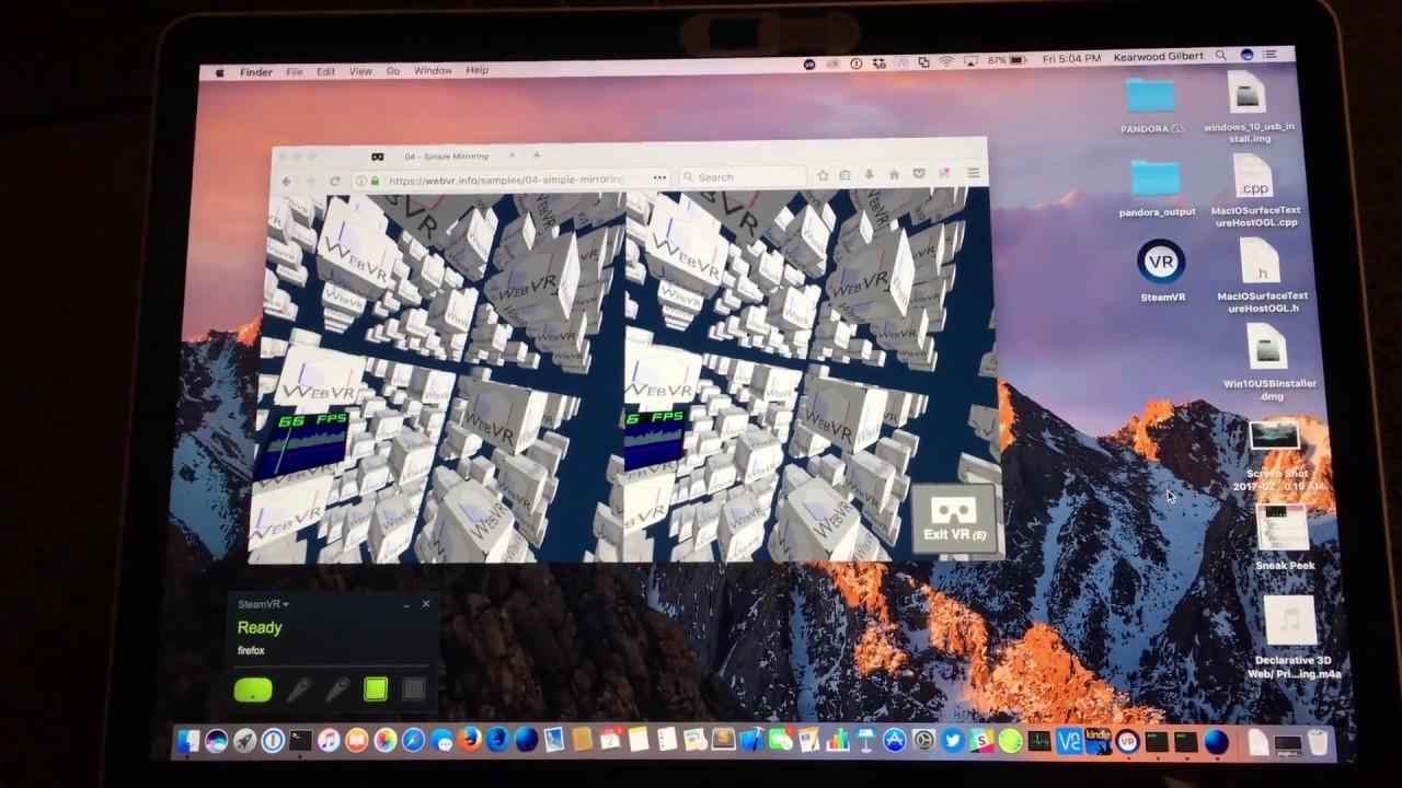 Announcing WebVR on Mac via Firefox Nightly - Mozilla Hacks - the