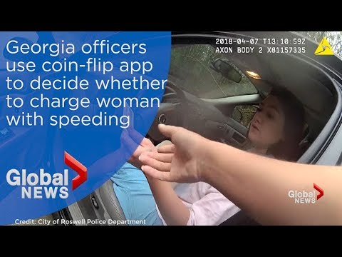Officers use flip of coin to decide whether to arrest or release woman for speeding