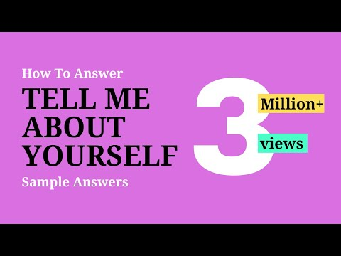 Tell Me About Yourself Self - Best Answer ✓