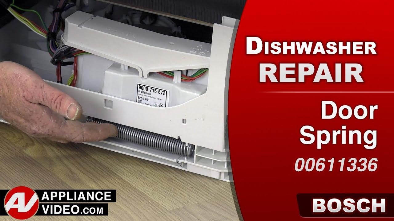 Bosch Dishwasher   Door Spring Repair   YouTube