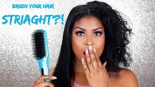 Does it really work on CURLY hair? | Head Kandy Brush Straightener