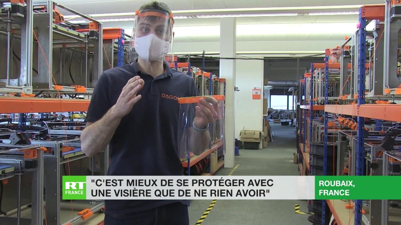 Face à la pénurie de matériel de protection, une entreprise de Roubaix produit des visières