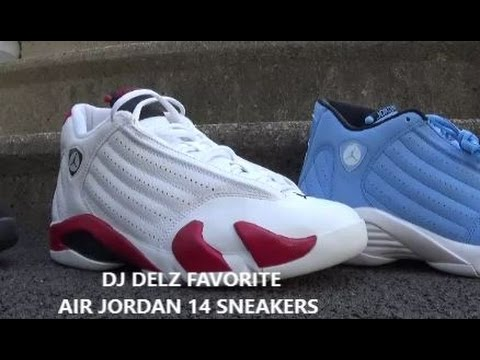 04a18404546de Dj Delz Favorite Air Jordan 14 Shoes (Collection Video)