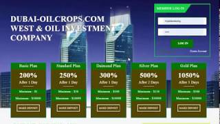 200% After 1 Day Dubai OilCorps New Doubler Hyip Investment Program Site Launched 2020 with Proof