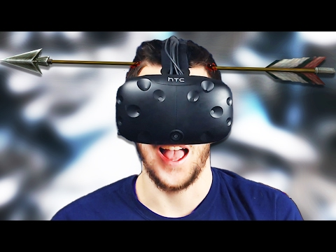 ARROW TO THE HEAD! - QuiVr Gameplay - QuiVr VR HTC Vive |