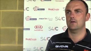 Chris Hughes after Bangor City cup defeat