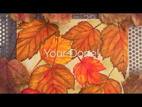 Painting Leaves with Watercolor Pencils -Let's Paint with Victoria Gobel