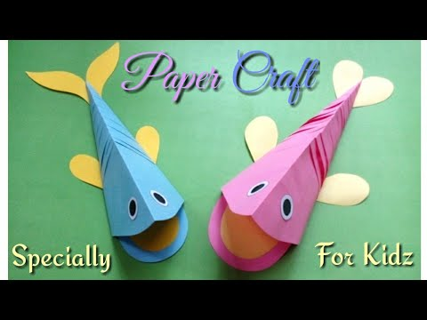 How to Make a Paper Fish - DIY Paper Fish - Kids Craft ..