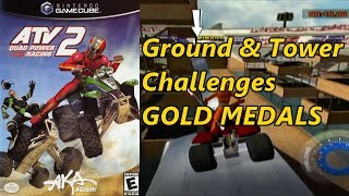 ATV Quad Power Racing 2 - All Ground & Tower Challenges Gold Medals