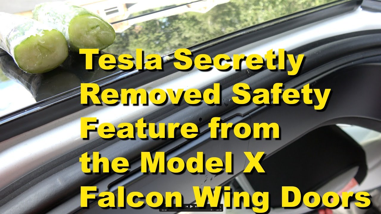 Tesla Model X: software update turns gullwing into guillotine doors