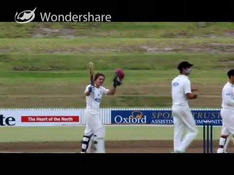 BJ Watling raises his century for Northern Districts on a record day