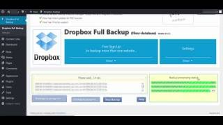 Local Backup using Backup & Restore Dropbox plugin. Wordpress